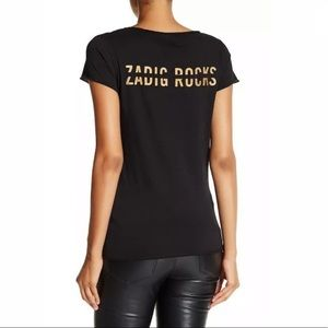 Zadig & Voltaire Black Tee Shirt. Size Small. NWT.